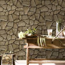 haokhome vintage faux marble stone wallpaper rolls taupe black 3d