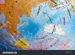 North Pole Map North Pole Map Stock Photo 1287797 Shutterstock