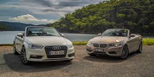 audi convertible 2006 a3 cabriolet v bmw 2 series convertible comparison review