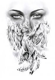 phoenix and face pic tattoo tattoo from itattooz