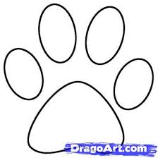 Paw Print Template by 4 Draw A Paw Print