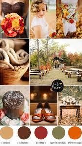 burnt orange chocolate brown wedding autumn wedding colors