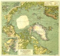 Azimuthal Map 1925 Arctic Regions Map Historical Maps