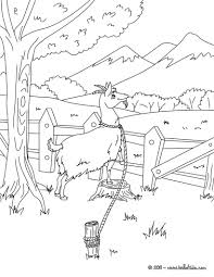 the little brave goat of monsieur seguin coloring pages
