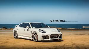 white porsche panamera white techart grandgt looks devastatingly awesome on 22s