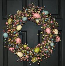 Easter Egg Outdoor Decorations by Easter Ideas Ideas Stunning Spring Easter Egg Wreath On Black