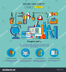design home page online flat web design one page template stock vector 465603053