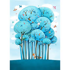 fresque chambre enfant sticker fresque enfant dans les arbres avenue