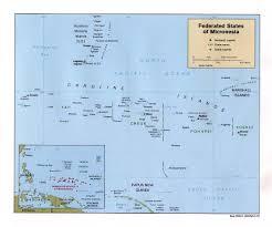 Palau Map Micronesia Vacation 2004