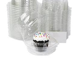 Cupcake Canisters For Kitchen Amazon Com Katgely Set Of 45 Cupcake Containers Kitchen U0026 Dining