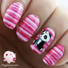 piggieluv sad panda nail art