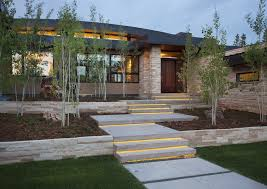Stair Lights Outdoor Column Lighting Outdoor Exterior Contemporary With Landscape Step