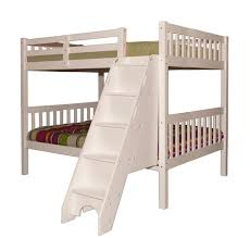 White Bunk Bed With Stairs Sca Milan Full Over Full Bunk Bed White Furtado Furniture