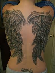 wings tattoos on back