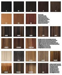 Black Hair Color Chart Nyponytail Color Chart