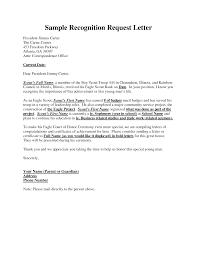 Application Letter Inside Address Example Recognition Request Letter Eagle Scout Pinterest