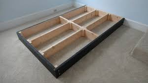 Platform Bed Frame With Storage Plans by How To Build A Platform Bed With Storage Drawers The Best