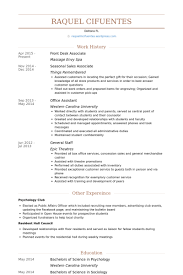 Retail Associate Resume Example by Front Desk Associate Resume Samples Visualcv Resume Samples Database