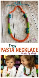 pasta necklace craft cute and colorful