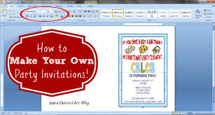 Birthday Card Invitations Ideas How To Make Your Own Party Invitations Just A And Her Blog
