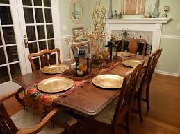 alluring hallowen themes dining room table decor ideas round gold