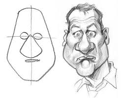 how to draw caricatures step by step drawing