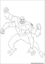 drawings paint u0026 colour ben 10 print design 002