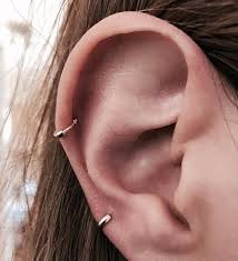 small hoop earrings for cartilage tiny cartilage hoop earring thick gold the armoury