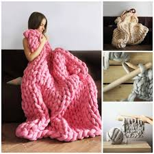 diy blanket super chunky knit blanket by anna mo