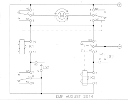 relay limit switches to control motor direction electrical