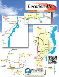 Illinois Interstate Map by Mid America Advertising Get On Board With Us