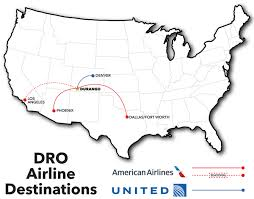 United International Route Map by Durango Co Official Website Airlines