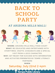 Arizona Mills Mall Map by Youth Summer Reading City Of Tempe Az