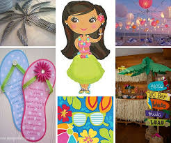 Luau Party Table Decorations Luau Party Ideas Summer Party Ideas At Birthday In A Box