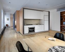 modern wet kitchen design modern loft removes partitions in favor of a plywood volume
