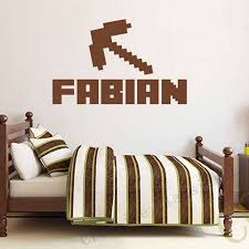 aliexpress com buy minecraft custom kids name removable vinyl