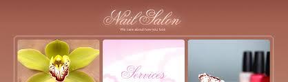 website template 25395 nail salon nails custom website template