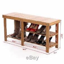 Boot Bench With Storage Rack Storage Bench Chair Rustic Organizer Seat Boot Shelf Hall