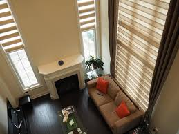 Curtains High Ceiling Decorating Living Room Chic Brown Ceiling To Floors Windows Curtain For