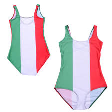 Flag Of Itali Flag Of Italy One Piece Swimsuit Red White Green Stripes Swimwear