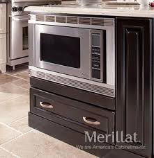 merillat masterpiece base microwave cabinet with drawer merillat