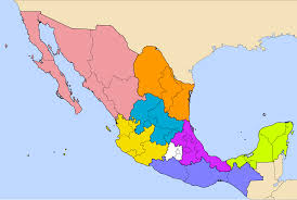 regions of mexico map file regions of mexico svg wikimedia commons