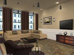 Living Room Color Schemes Brown And Green  Beautifully Top - Brown paint colors for living room