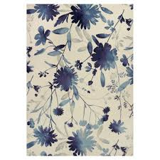 ebay area rugs kas rugs flower blast blue ivory 7 ft 10 in x 11 ft 2 in area