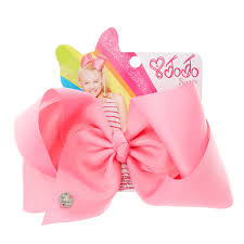 claires hair accessories p get the classic jojo look with this large pink hair