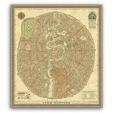 discworld map the compleat ankh morpork terry pratchett books discworld maps