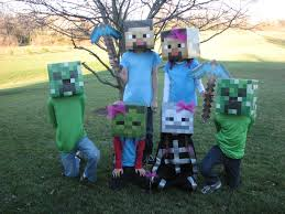Funny Family Halloween Costume Ideas by The Kids And Their Cousins All Decided To Go As Minecraft