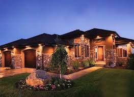 Wired Landscape Lighting Wired In Gutter Or Soffit Lighting On House Exterior Instead Of
