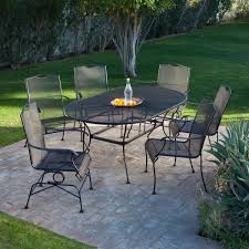 Complimenting Patio With Wrought Iron Patio Furniture - 60 inch round wrought iron outdoor dining tables