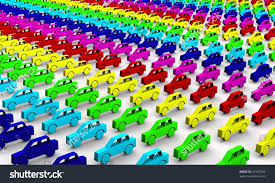rainbow cars car concept toy cars rainbow colors stock illustration 41837242